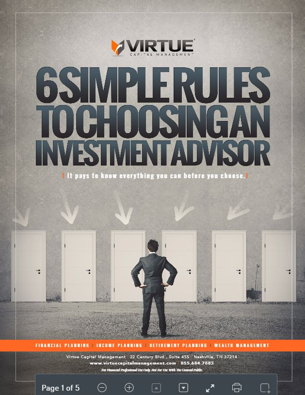 6 Simple Rules for Choosing An Investment Advisor